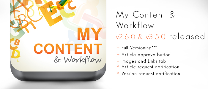 My Content & Workflow v2.6.0 & v3.5.0 released