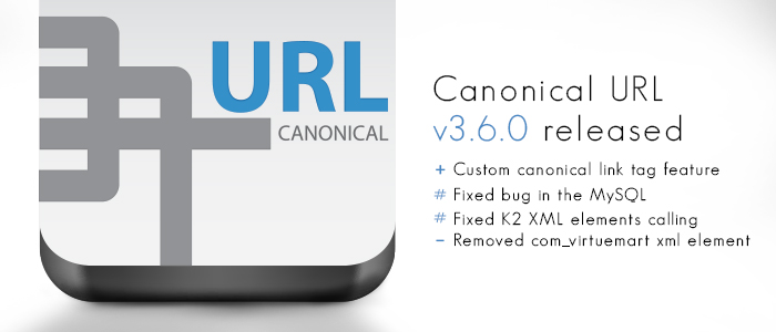 Canonical URL v3.6.0 released