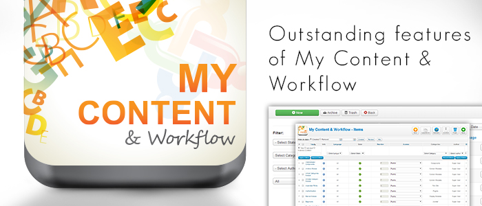Outstanding features of My Content & Workflow