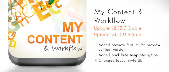 My Content & Workflow v2.12.0 & v3.11.0 released