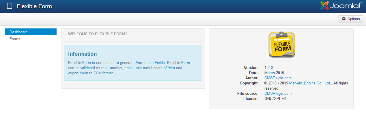 Flexible Form v1.2.0 for Joomla! 3.4
