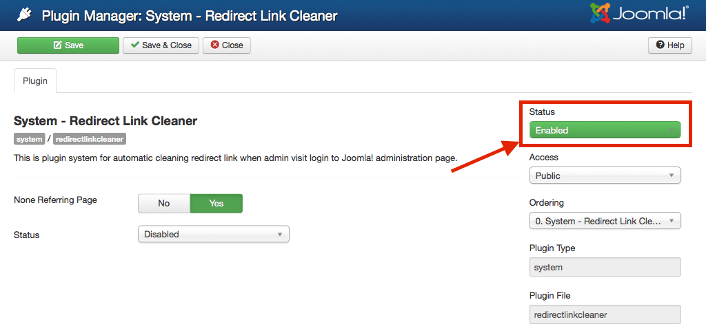Enabled Redirect Link Cleaner