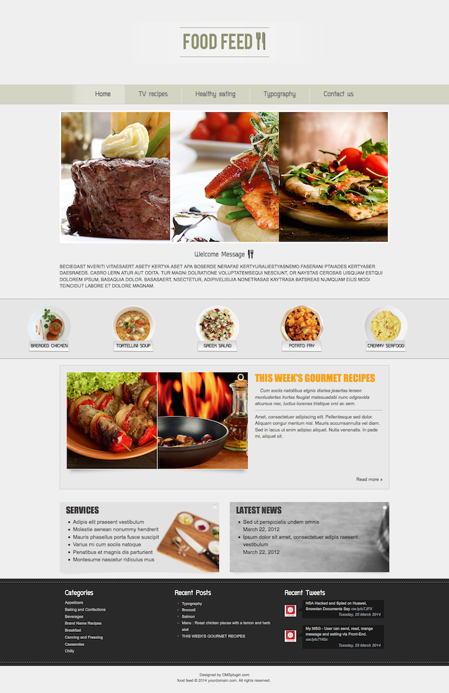 Food Feed Home Page