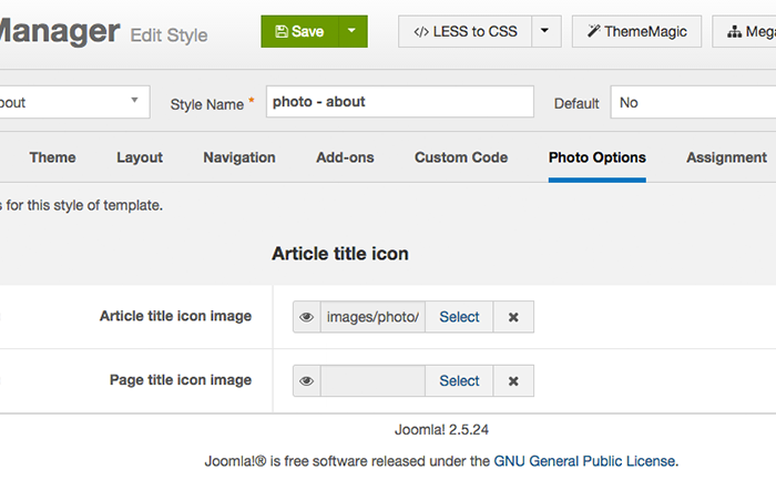 Choose an icon for either Page Title or Article Title