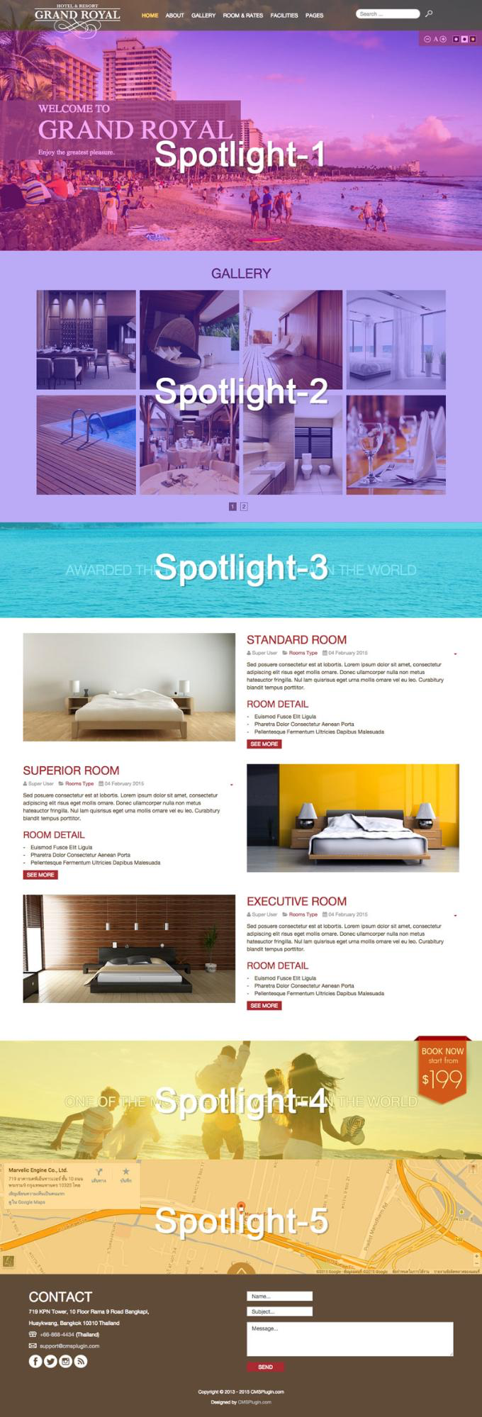 How to assign Spotlight module in the Home Layout