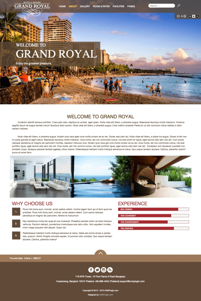 Grand Royal Hotel About Page