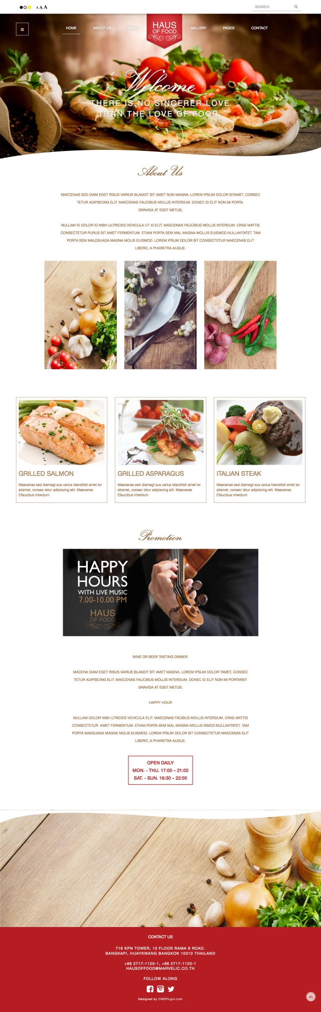 Haus of food Home Page
