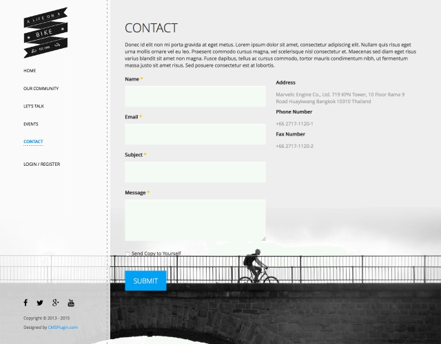 A Life On A Bike Contact Page