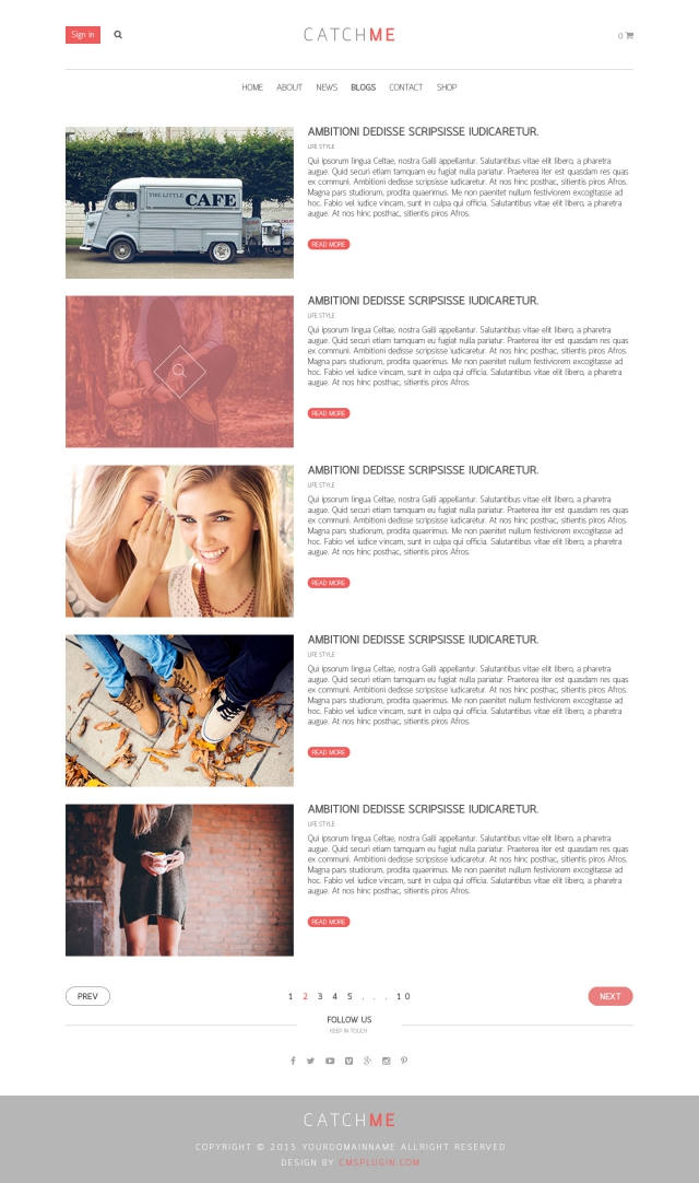 CatchME Blog Page