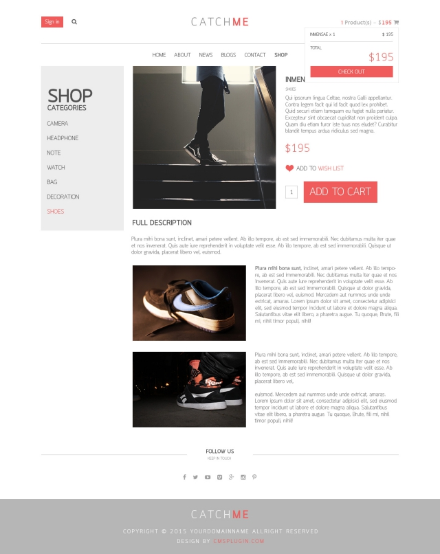 CatchME Product Details Page