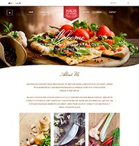 Haus of food Joomla! Template